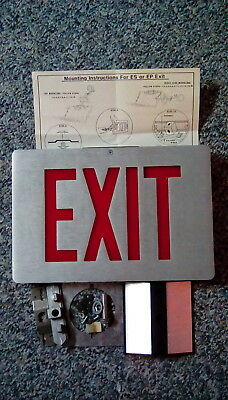 Brushed Aluminum Lighted EXIT Sign