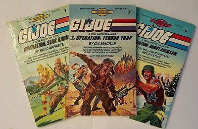 A Set (Three Books) of G.I. Joe (1985) Young Adult Books (Various Authors)