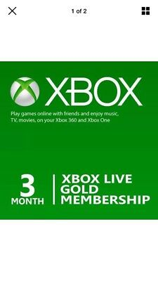 Xbox Live Gold 3 Month Quick Dispatch