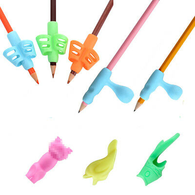 8Pcs Soft Children Pencil Holder Pen Writing Aid Grip Posture Correction Tool