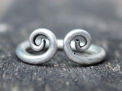 Ethnic silver double spiral ring Handmade Bohemian Gypsy ring Jewellery gift