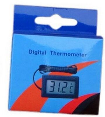 THERMOMETRE ENCASTRABLE écran digital  lcd + cable sonde 1m auto moto tuning