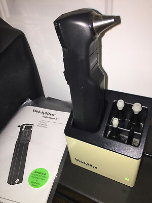 Welch Allyn AudioScope 3 Portable Audiometer, Charger Base, Ear Tips, Cards