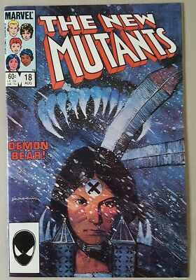 The New Mutants #18 1st Demon Bear 1st Warlock NM+ High Grade Movie Soon! Marvel