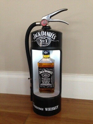 JACK DANIELS Fire Extinguisher ALCOHOL BOTTLE DIsplay Case - BLACK