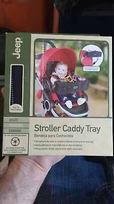 Jeep Brand Stroller Caddy Tray Fits Most Single Strollers