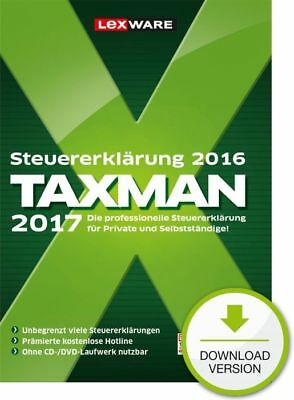 ▬ Lexware TAXMAN 2017 (für Steuerjahr 2016) (VOLLVERSION) ESD Download-Lizenz ▬
