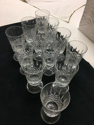 Set Of 12 Rogaska Crystal Iced Tea Stemmed Glasses