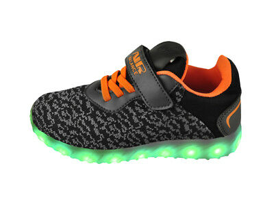 FREE SHIP! LED Light Up Shoes Youth USB Lot 12Prs $10.99/Pr-L006DGRYBKOR-C