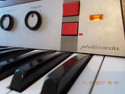 Philips Philicorda AG 7500 Combo Organ withWooden Keys/ Vox Continental