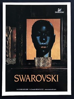 2004 Vintage Print Ad SWAROVSKI Jewelry Style African Art Image