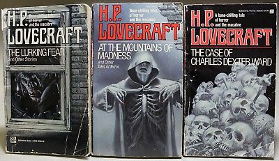 H. P. LOVECRAFT: Lot of 5 DEL REY paperback books - Reading Copies / Heavy Wear