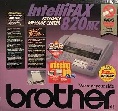 Brother IntelliFAX 820MC Brand New In Box,  Does not require a separate line