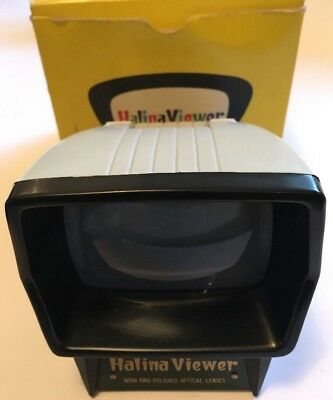 Vintage Halina 35mm Photo Slide Viewer, Illuminated Battery Power, Boxed Working