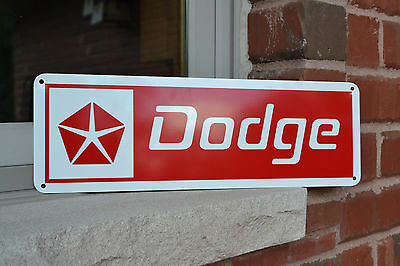 "DODGE SIGN Challenger Dart  Ram Charger Hemi Mechanic Garage Sign 5""x15""FreeShip"