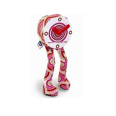 Clock with Dangly Legs Novelty Pink Children's Clock - SITS PROUDLY ON ANY SHELF