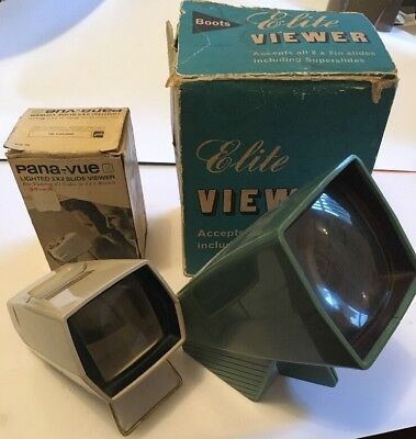 2 x Vintage 35mm Photo Slide Viewers, Spares Repair Props Display, Retro Design