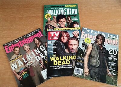 The Walking Dead - 3 Entertainment Weekly, 1 TV Guide - Daryl Dixon Rick Grimes
