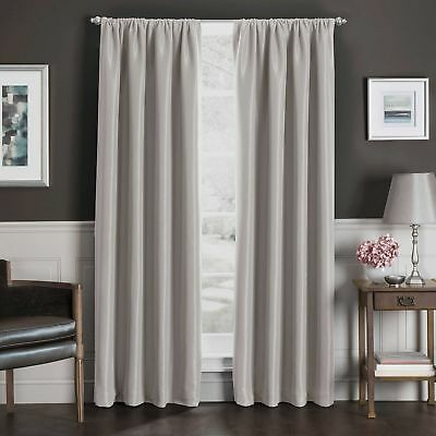 Sebastian 108-Inch 1 Rod Pocket Insulated Total Blackout™ Curtain Panel-Natural