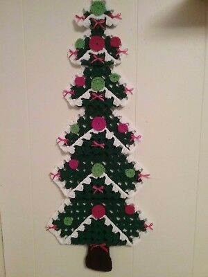 "Handcrafted / Handcrocheted ""granny Square Christmas Tree""  (New)"