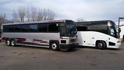 Choice of MCI D,E or J 47 or 56 passenger motorcoach bus, Some with W/C door