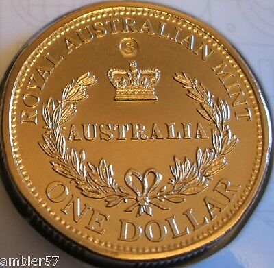 **2016  Australia's First Mints S mintmark $1 coin Carded  UNC **