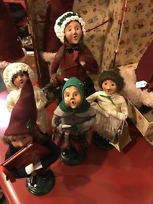 Byers' Choice Ltd THE CAROLERS Lot Of 5 Christmas 1986 1988 2000 2001 Dickens