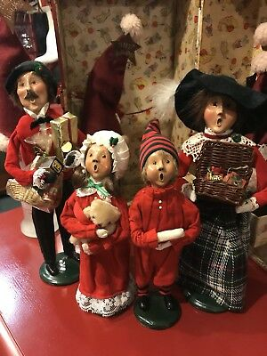 Byers' Choice THE CAROLERS Lot Of 4 Christmas 1987 1997 Family Crabtree Evelyn