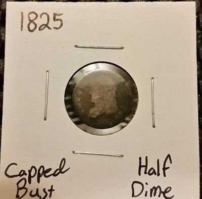 1825 Capped Bust Half Dime! 89% Silver!
