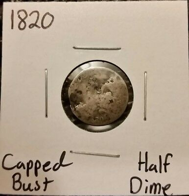 1820 Capped Bust Half Dime! 89% Silver!