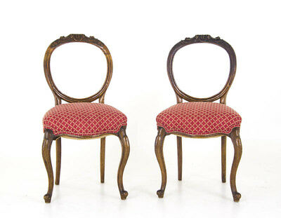 Antique Balloon Back Chairs | Antique Upholstered Chairs | Scotland, 1880 | B878
