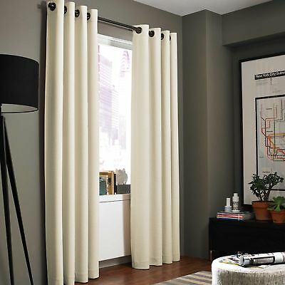 """Kenneth Cole Reaction Home Gotham Texture 108"""" - Curtain Panel-Chalk"""
