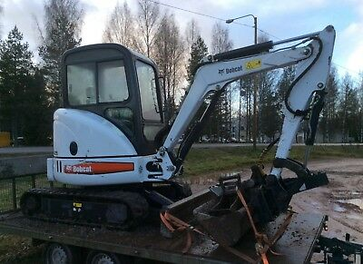 Bobcat 428 Mini Excavator 2655 hours Works Perfect Trailer included!