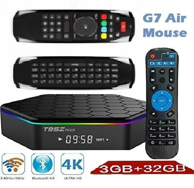 T95Z Plus 3GB/32GB TV Box & G7 Air Mouse Android 7 S912  Octa Core Dual WIFI