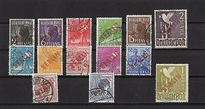 Germany Berlin RED - Michel 21-34 used SIGNED BPP