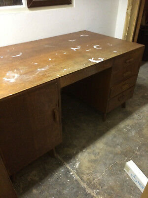 Very Large old oak ministry desk