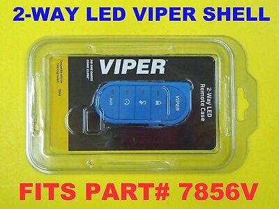7856V Blue Candy Color Viper Shell 2 Way LED Transmitter Remote 87856VB NEW