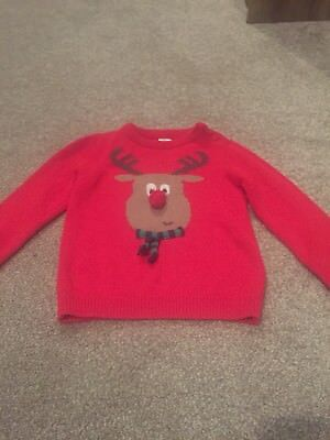 Boys Tesco Christmas Jumper Aged 18-24 months