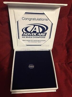Advocare Blue and silver pin New In Box