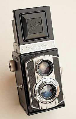 *c1955* ● Welta WELTAFLEX (Serviced & Tested) Rathenow f3.5 ● TLR 6x6 (Case/box)