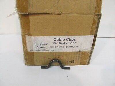 "Spring Creek 45919, 1/4"" Rod x 2-1/2"" Cable Clips - 1 box of 300 clips"