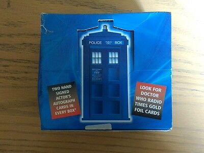 Doctor Who Strictly Ink Card Box And Empty Packets