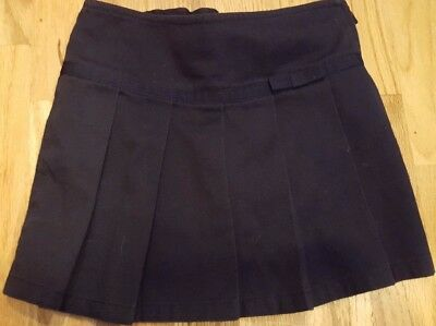 Girl's French Toast Navy Blue Uniform Pleated Skirt size 4T Cotton Blend