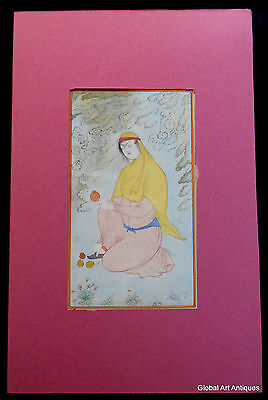 Rare Hand Painted Fine Decorative Collectible Indian Miniature Painting. G77-35