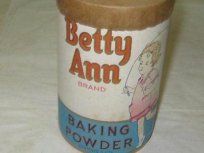 537-1 Betty Ann Baking Powder Container, No Zip Code