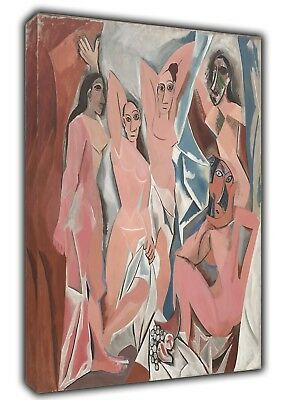 Les Demoiselles Oil Paint By Picasso Reprint On FraMed CaNvas Wall Art Decor