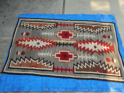 Navajo blanket circa late 19th or early 20th century.