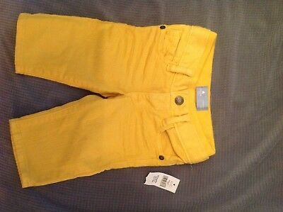 Baby Gap Baby Bpy Yellow jeans- size 3-6m