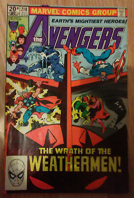Avengers Vol 1 #210 (1981) Shooter Colan Mantlo Green VF+ Combined P&P Available