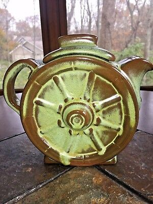 Vintage Frankoma 94T Wagon Wheel Pitcher With Lid Water Carafe Pottery Art Mint!